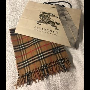 Authentic Burberry lambs wool scarf